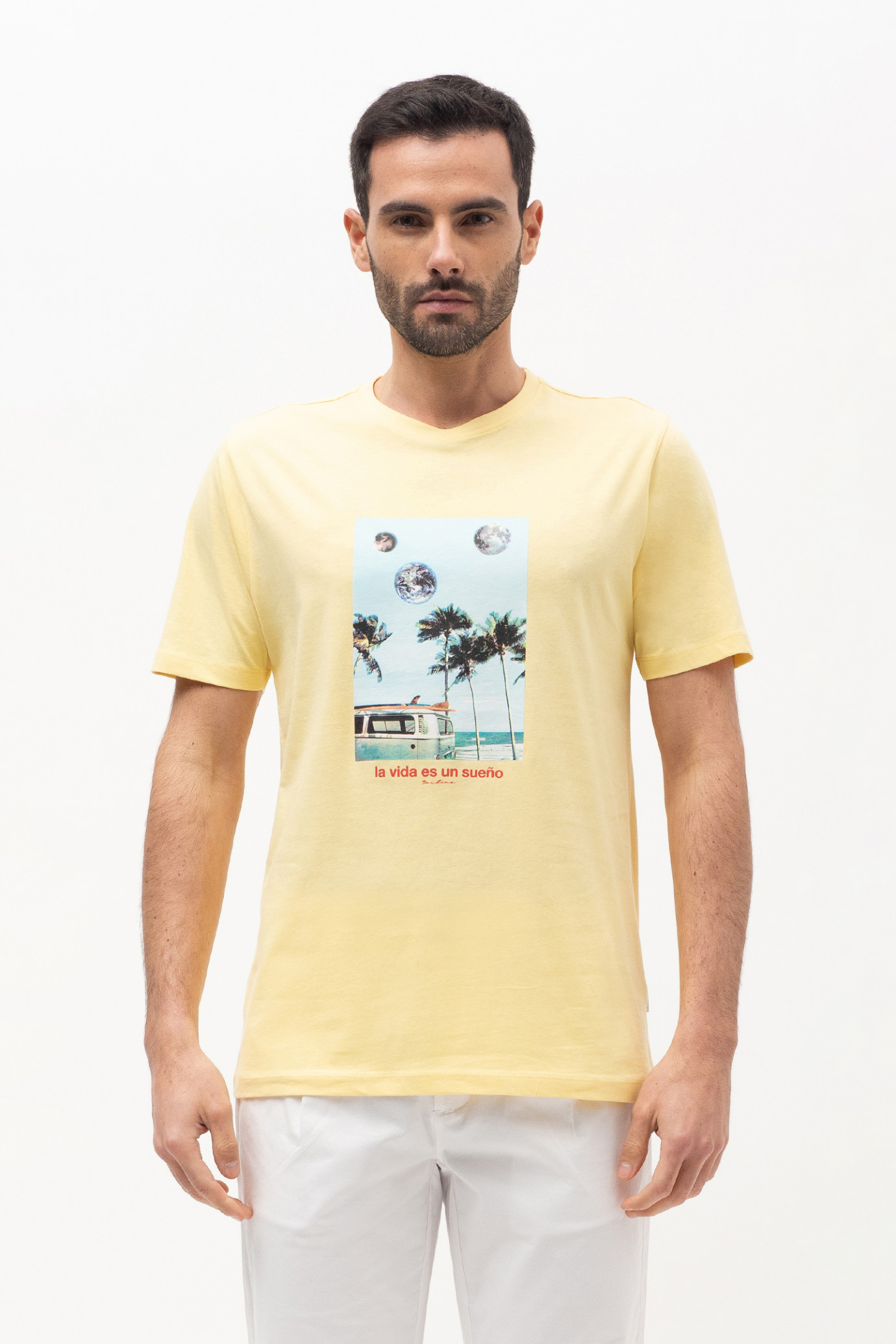 T-SHIRT CON STAMPA FRONTALE